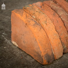 Batch of 20 Quarter Round Wall Coping Bricks Copings