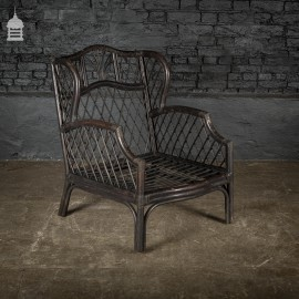 19th C Bamboo Lounge Chair Seat for Upholstery