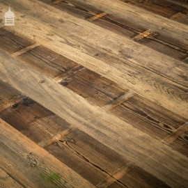 Batch of 12 Square Metres of Rustic Pine Floorboard or Wall Cladding with Grained Brushed Finish