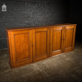 Large 19th C Mahogany Bookcase Sideboard Cupboard