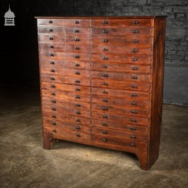 19th C Pine Collectors Specimen Drawers with Mahogany Finish