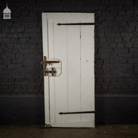 Reclaimed Pine Ledged Door with Original T-hinges and Timber Latch
