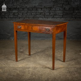 Elegant Regency Mahogany Side Table with Drawer