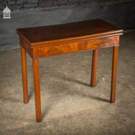 Regency Fold Out Mahogany Games Cards Table
