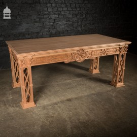 21st C Hardwood Chippendale Style Side Table Made By Us