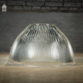 Industrial Holophane Endural No. 6692-A Ridged Glass Factory Light Shade