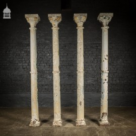 Set of 4 19th C Boulton of Norwich Cast Iron Columns Pillars Stanchions