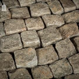 1 Tonne of Reclaimed Small Granite Setts Blocks Pavers