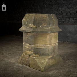 18th C Octagonal Sandstone Chimney Stack Base