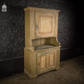19th C French Kitchen Scullery Cupboard Dresser with Scumble Paint