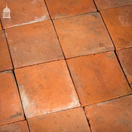 "Batch of 136 Reclaimed 8.5x8.5"" Red Quarry Tiles – 6 Square Metres"