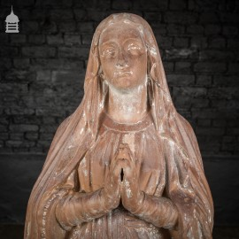 19th C Ecclesiastical Terracotta Statue of Mary