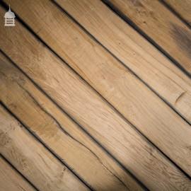 Planned Reclaimed Norfolk Broads Black Bog Oak Floor Boards Wall Cladding
