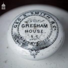19th C Ceramic Gresham House Paper Weight