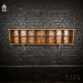 NARC Studio Wall Mounted Kitchen Pantry Shelf Built from Ebenezer Chapel Pew Components
