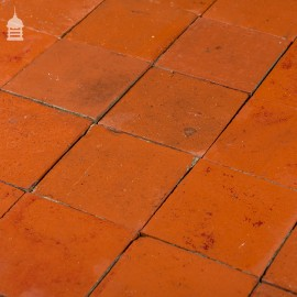 Reclaimed 6x6 Thick Red Quarry Tiles 6 Inch x 6 Inch Floor Tiles