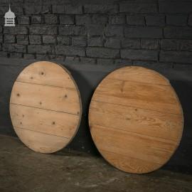 Vintage pair of Pine Barrel Lids Covers