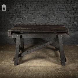 Blackened Elm Rustic Bygone Table