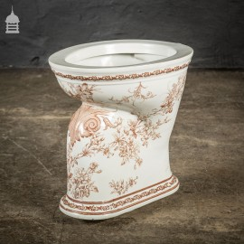 Decorative Brown and White 'The Sanitas' Wash Down Closet Toilet