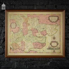 Vintage Map of Essex in an Oak Frame