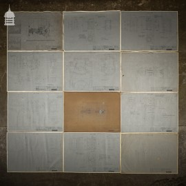 45 Pages of Vintage Industrial Drawings Plans Schematics