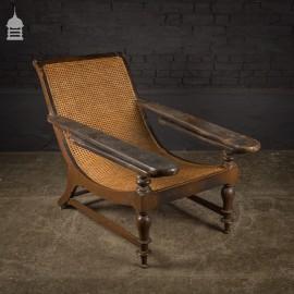 Rare 19th C British Colonial Planter's Plantation Chair in Original Condition