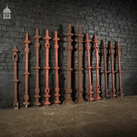 Batch of 12 Cast Iron and Aluminum Decorative Posts