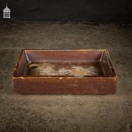 Worn Victorian Cliff & Son Salt Glazed Orange Peel Shallow Trough Planter