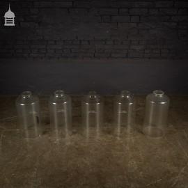 Set of 5 Vintage Industrial Glass Tubes Measuring Cylinders