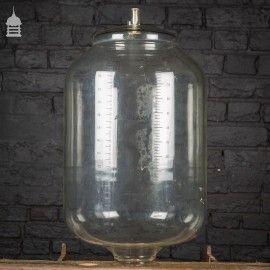 Set of 10 Industrial Glass Measuring Cylinders