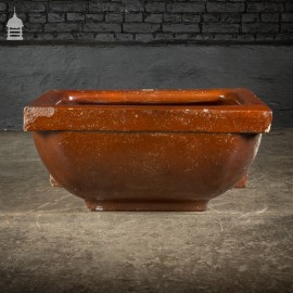 Large Victorian Salt Glaze Orange Peel Ceramic Trough Sink by Oats & Green LTD Halifax