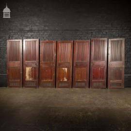 Set of 7 Vintage Teak Ships Doors from an Admiralty Yacht