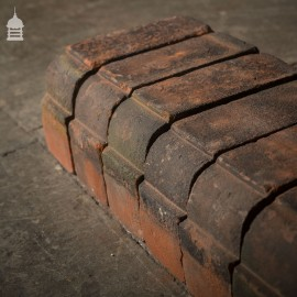 Batch of 56 Reclaimed Red Stepped Bullnose Special Bricks