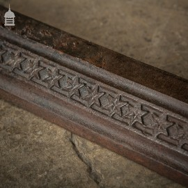 Large 19th C Cast Iron Curb Fender with Star Design Pattern