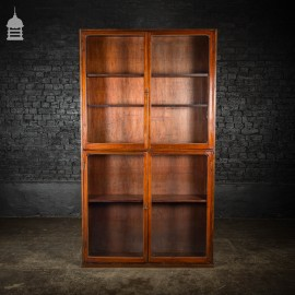 Circa 1900 Tall Glazed Haberdashery Display Cabinet with Internal Shelves