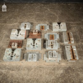 Batch of 14 Metal Industrial Factory Foundry Moulds