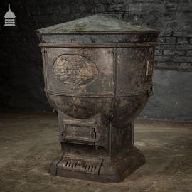 19th C Cast Iron Agricultural Farm Boiler by The Carron Company 'The Farm Boiler'