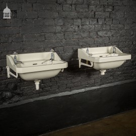 Pair of Matching Art Deco His and Hers Ceramic Sinks
