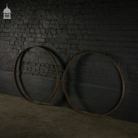 Pair Wrought Iron Rings from Cart Wheels