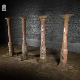 Set of 4 19th C Cast Iron Columns Pillars Stanchions