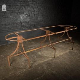 Vintage Bespoke Steel Industrial Table Base