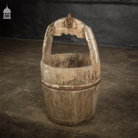 18th C Well Bucket with Original Ironwork