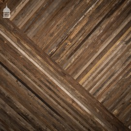 40mm Wide Oxidised Pine Strip Flooring Wall Cladding Cut from Victorian Joists