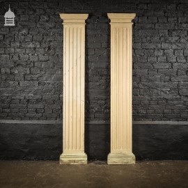 Pair of Original Georgian Flanked Columns with Fluted Detail