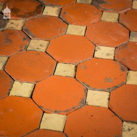 Stunning 18th C Octagonal and Square Church Floor Tiles – 7 SqMs