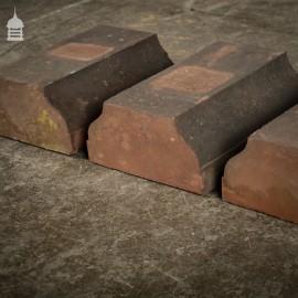 Batch of 8 Balustrade Plinth Coping Bricks