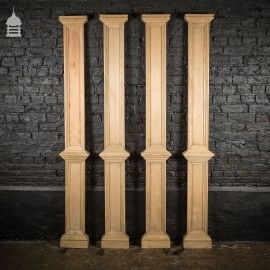 Set of 4 Victorian Pilaster Wall Columns