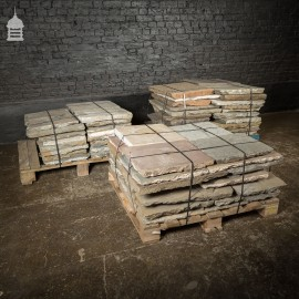 Batch of 22 Square Metres of Pennant Stone Slabs Flagstones Paving