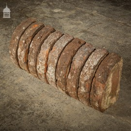 Batch of 22 Quarter Round 18 th C Wall Coping Red Brick Copings