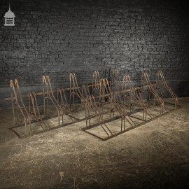 Pair of 19th C Strap Iron Bicycle Cycle Racks